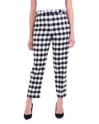 Seventy Pantalone chino di colore nero e panna - Blu