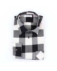 Aglini Chemise à carreaux coupe régulière - Noir