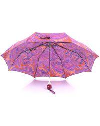 Etro Mehrfarbiger wiederverschließbarer regenschirm - Lila