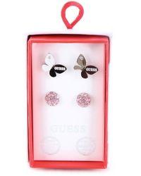 Guess Jubs20021jw box set orecchini (confezione da 2) placcati rodio - Mettallic