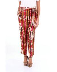Manila Grace Pantalon cargaison - Rouge
