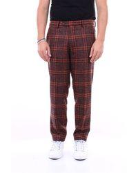 Michael Coal Pantalon en laine mélangée avec poche américaine - Rouge