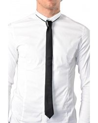 Cor Sine Labe Doli Cravatta in seta - Weiß