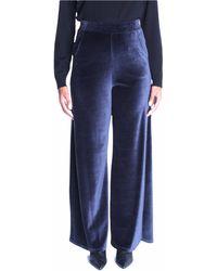 Max Mara Pantalone in jersey mod. orvieto blu - Azul