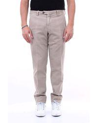 Michael Coal Pantalone in cotone stretch con tasca america - Grigio