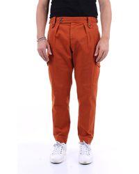 PT Torino Pantalón liso de algodón - Naranja