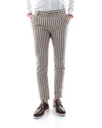 Yan Simmon Pantalone chinos realizzato in freschissimo lino/cotone, 50%li 25%co 25%pl - Marrone