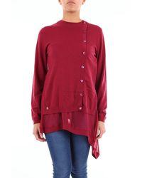 Manila Grace Chemise de couleur rubis - Rouge
