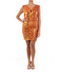 P.A.R.O.S.H. Vestido corto con lentejuelas - Naranja