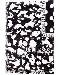 Guess Aw8612mod03 kefiah con stampa logo e 4g, fantasia animalier pois - Schwarz