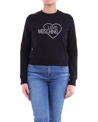 Love Moschino Felpa girocollo di colore nero