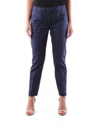 Dondup Pantalone chino di colore blu