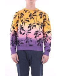 Saint Laurent Sweatshirt ocre et noir - Violet