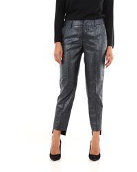 PT Torino Pantalones chinos negros con estampado