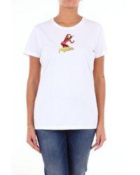 Pinko T-shirt maniche corte di colore bianco
