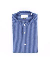 MASTRICAMICIAI Camicia a righe slim fit - Blu
