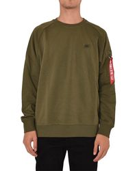 Alpha Industries Sweat-shirts à col rond - Vert