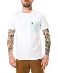 Lyle & Scott T-shirt lyle &scott contrast pocket ts831v.w362 - Bianco