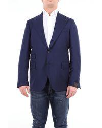 Gabriele Pasini Veste en laine unie - Bleu