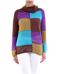 Manila Grace Jersey de cuello redondo - Multicolor