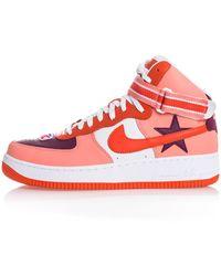 Nike + Riccardo Tisci Air Force 1 High-top-sneakers Aus Leder - Lila