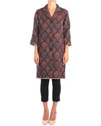 Jucca Cappotti lunghi donna mogano - Multicolore
