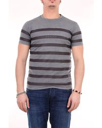 Replay Camiseta con cuello redondo - Gris
