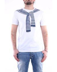 Daniele Alessandrini - T-shirt con maniche corte di colore bianco - Lyst