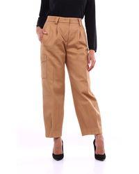 PT Torino Pantalone cargo color cammello - Multicolore