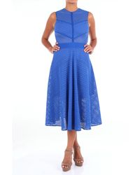 Pinko Vestidos ternero - Azul