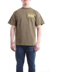 Aries - T-shirt con maniche corte color oliva - Lyst