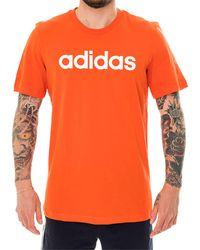 adidas T-shirt linear tee fm6227 - Arancione