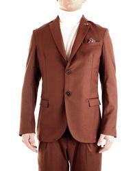 Roberto Pepe Roberto p. gg2grf giacca con revers in cotone - Nero