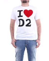 DSquared² Camiseta blanca de manga corta - Blanco