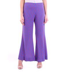 Jucca Pantalon classique à motifs bleu et rouge