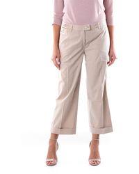 Re-hash Pantalone cropped color sabbia - Multicolore