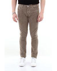 Dondup Jean george skinny fit 5 poches en velours côtelé - Multicolore