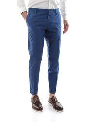 AT.P.CO Pantalone chino realizzato in morbido cotone stretch, vestibilità slim fit, 100% - Bleu