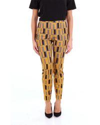 Maliparmi Pantalone classico fantasia - Multicolore