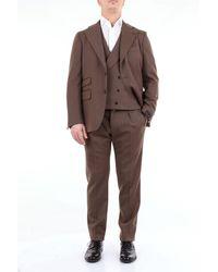 Gabriele Pasini Vestido de lana color liso - Marrón