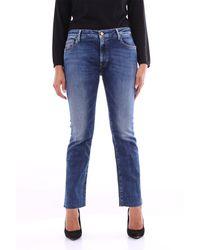 Replay Wiederholen sie blaue kurz geschnittene jeans
