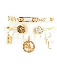 Guess Jubs70114jw set bracciali (confezione da 3) placcati in oro - Metallizzato