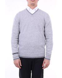 Angelo Marino - Jersey de manga larga con cuello en v - Lyst