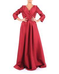 Alberta Ferretti Vestido largo burdeos de - Rojo