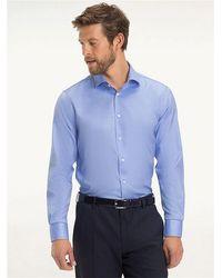 Tommy Hilfiger Slim Fit Hemd mit Stretch - Blau