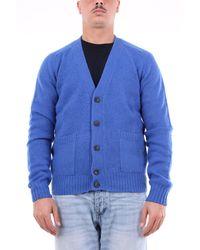 Heritage Cardigan en laine vierge - Bleu