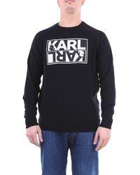 Karl Lagerfeld Prendas de punto cuello redondo - Negro