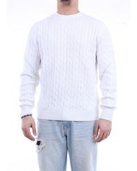 Heritage Suéter de cuello redondo - Blanco