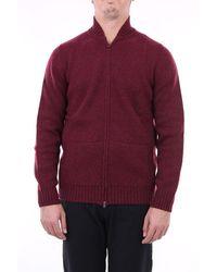 Angelo Marino Pull avec zip en laine mélangée - Violet