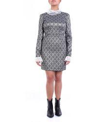 Custommade• Robe courte à motifs sur mesure - Gris